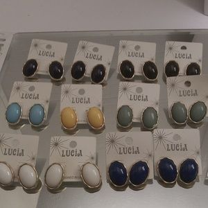 NWTS 12 PAIRS OF LUCIA EARRINGS & 3 BRACELETS B178